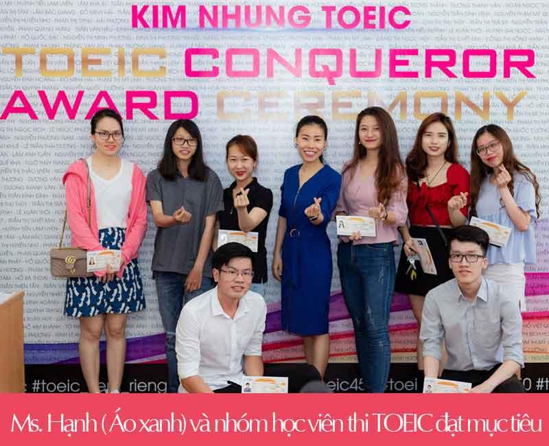 Ms. Hạnh TOEIC và học viên thi TOEIC đạt mục tiêu