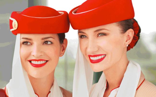 hình tiếp viên hàng không hãng emirates