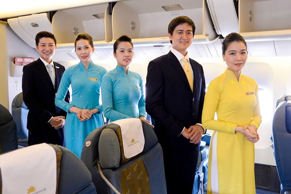 hình tiêu chuẩn tiếp viên hàng không vietnam airlines