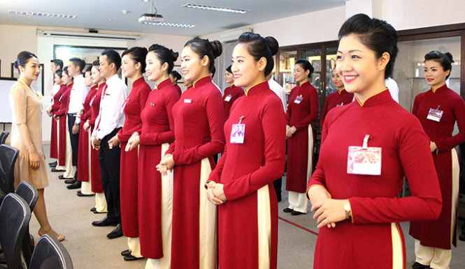 những tiêu chuẩn tiếp viên vietnam airline