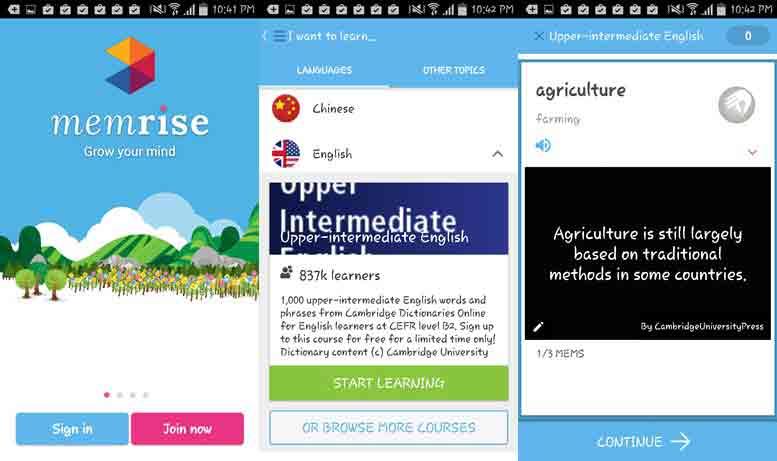 app memrise từ vựng tiếng anh luyện thi toeic