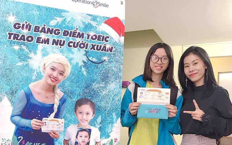 Học viên thi TOEIC đạt muc tiêu tại Kim Nhung TOEIC