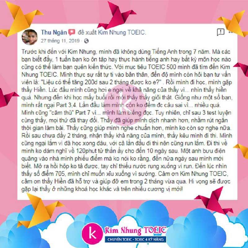 Lan Hương - Đạt TOEIC 700 sau 3 tháng