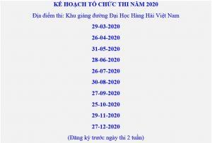 Lịch thi TOEIC 2020 Hải Phòng