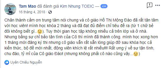 Feedback của học viên về Ms. Đào