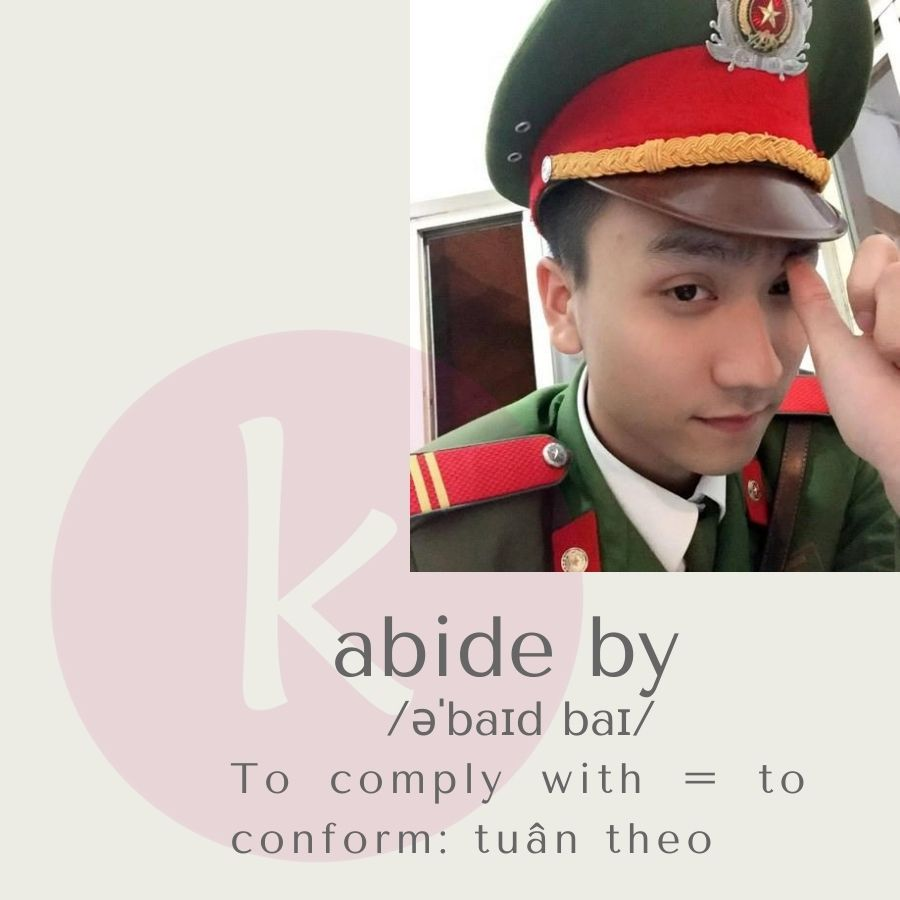 abide by