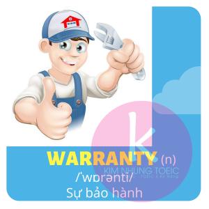 từ vựng toeic chủ đề warranty