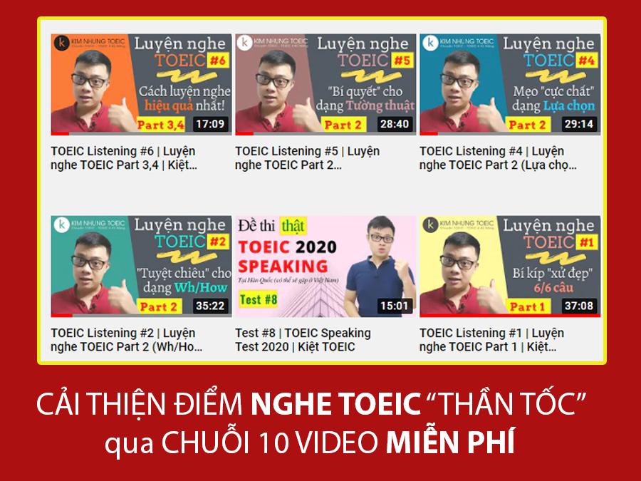 Videos bài giảng TOEIC Listening