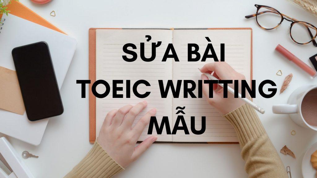 Sửa Bài TOEIC Writting Mẫu