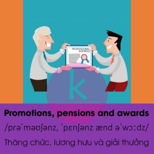 Promotions, pensions and awards