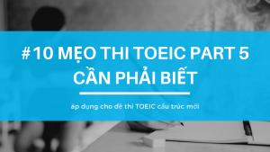 Mẹo thi TOEIC Part 5