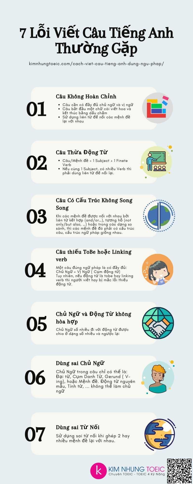 7 Lỗi Viết Câu Tiếng Anh Thường Gặp