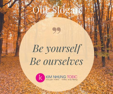 Kim Nhung TOEIC Academic Team Slogan dùng đại từ phản thân
