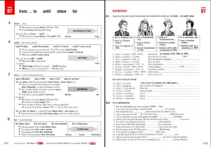 Trang lý thuyết và Trang bài tập sách Essential Grammar In Use