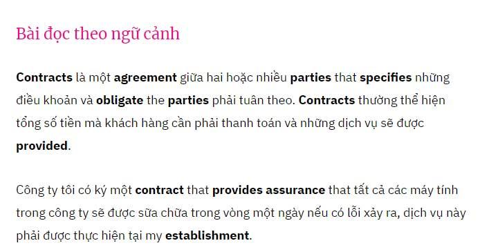 Học 600 từ vựng TOEIC qua đoạn song ngữ Anh-Việt
